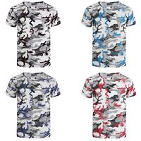 Kids Crochet Camo Pattern Short Sleeve T-shirt Soldier Combat Military 3-14 Y