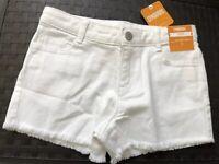 NWT GYMBOREE White Jean SHORTS 7 SHORTS SUMMER VACATION Adjustable DENIM NEW