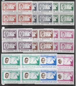 YEMEN , YAR ,  KENNEDY, 1966, WORLD PEACE , SET OF 9 BLOCKS OF 4 , PERF , MNH