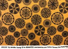 Benatex - Origins By Jennifer Young P797 Orangey Brown- 100% Cotton Fabric
