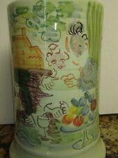 Raoul Dufy Ceramic Hand Painted Vase Wine Cooler Utensil Holder Deruta Italy