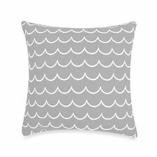 kate spade Candy Shop Stripe Waves Starry Night Gray Zigzag Square Toss Pillow