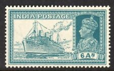 India Scott # 159 VF Unused 1937 George VI 6 Annas Mail Steamer