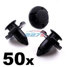 50x Nissan Bumper Clips- 8mm Plastic Trim Clips for Micra, Almera XTrail Juke...