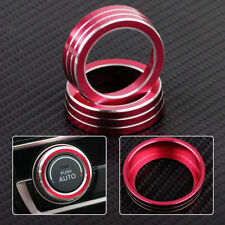 2x Red AC Air Condition Control Switch Cover Knob Ring Fit For Honda Civic 16-17