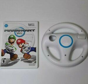 MARIOKART Wii (2008 Nintendo Wii) Complete with Manual + OEM Original Wheel