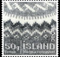 Iceland 2017 SEPAC Handcraft Sweater Unique Unusual Flock Paper self-adhesive 1v