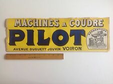 Vintage Original Poster PILOT French Sewing Machines