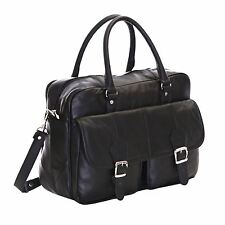 Genuine Real Leather Travel Work A4 Luggage Messenger Briefcase Holdall Bag
