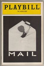 """""""Mail"""" Playbill PREVIEW Brian Stokes Mitchell & Michael Rupert 1988  FLOP"""