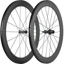 Carbon Wheelset 700C Road Bike Wheels 60mm Clincher Bicycle Wheelset R7 Hub