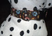 Dog Collar 70's Retro Floral.  Sz. S