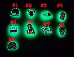 NEW Bad Bunny glow in the dark Charms single Crocs Charm