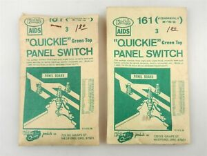 2 Kadee #161 (old B16G) Quickie Panel Switch Packs 3 in Each Green Top~NOS~ S23