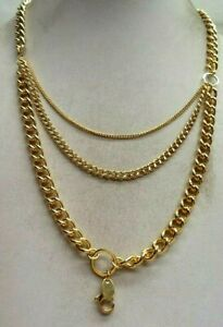 """STUNNING ESTATE SIGNED ORIGAMI OWL GOLD TONE 30"""" NECKLACE!!! 4435Q"""
