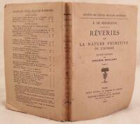 ETIENNE PIVERT DE SENANCOUR REVERIES SUR LA NATURE PRIMITIVE DE L'HOMME 1910