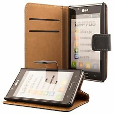 LG Optimus L7 Housse pochette wallet case noir + protection d'écran