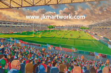 More details for the stoop stadium fine art a4 print - harlequins rugby union club