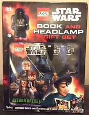 Lego Star Wars Books and Headlamp Book Gift Set NEW Darth Vader