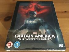 CAPTAIN AMERICA: WINTER SOLDIER 2D/3D Limited Blu-Ray Steelbook *BRAND NEW*