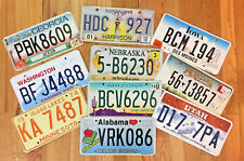 Kids Themed Set of Colorful License Plates from 10 Different States
