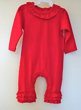 New In Bag Kelly's Kids Red Ruffle Bethany One Piece ~ Girl's Size 3 Year