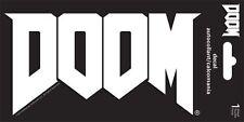 DOOM - VIDEO GAME LOGO - WINDOW DECAL/STICKER - BRAND NEW - 7183