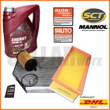 Audi A4 8K A5 Q5 2.0 TDI | Inspektionspaket Filterset + 5L MANNOL 5W-30 Longlife