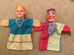 Punch and Judy Hard Head Hand Puppets