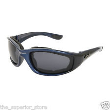 Xsportz Foam Padded Interior Frames XS48 Dark blue Biker Motorcycle Sunglasses
