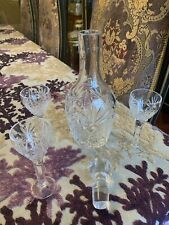 Genuine crystal whiskey decanter &3 Glasses set