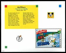 St Vincent 1798, MNH, Walt Disney characters, The Art of Skiing x14584