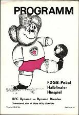FDGB-Pokal Halbfinale 78/79 BFC Dynamo - Dynamo Dresden, 10.03.1979