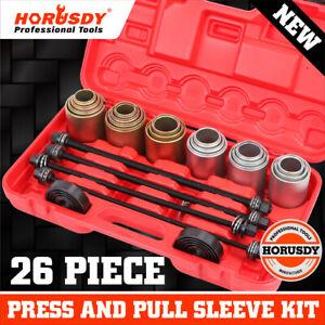 26Pc Universal Press & Pull Sleeve Kit Bush Bearing Remove LCV HGV Engines Tools