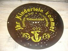 """Ihr Kinderlein kommet Polyphon Weihnachtsplatte 20,7cm clock music disc 8 1/4"""""""