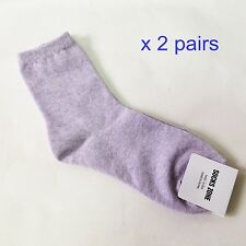 x 2 pairs Purple Color Pastel Women Socks Casual & Fashionable with tag Korean