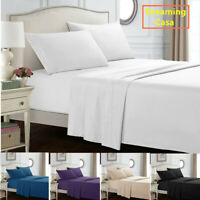 Queen Size Egyptian Comfort 1800 Count 4 Pcs Bed Sheet Set Deep Pocket Sheets D7