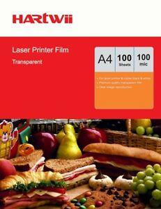 100 Sheets Overhead Projector OHP Film Clear A4 For Laser Printer AU Uinkit
