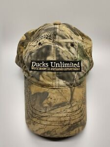 Ducks Unlimited Embroidered Camo Hunting Hat Baseball Cap