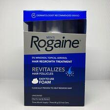 ROGAINE Mens 5% Minoxidil Unscented Foam - 3 Months Supply