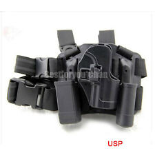 Tactical Serpa Right Leg Paddle Belt Thigh Pistol Holster BK For H&K USP Compact