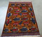 AFGHAN HAND MADE WAR RUG WITH TANKS ,WEAPONS, HELICOPTERS