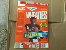 Wheaties box 34 Walter Payton Chicago Bears RARE Free Bread NFL Cereal champion