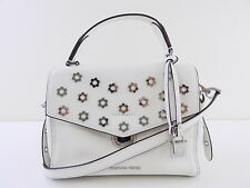 MICHAEL KORS BRISTOL White TOP HANDLE LEATHER Satchel HANDBAG