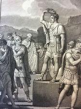 Les Métamorphoses d' Ovide Cipus montre ses cornes Rome Italie estampe de 1807