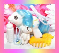 ❤️My Little Pony MLP G1 Vtg 1987 Newborn Baby Ponies DANGLES & Bottle, Comb❤️