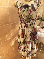 Fabulous  Flax linen Dress size 10/Wedding / Tea Party/ Races