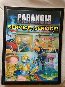 Service Service Service paranoia sci-fi roleplaying RPG book MGP mongoose