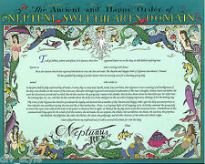 Neptune Sweethearts Domain Certificate blank mint condition