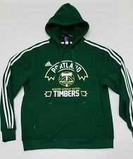 Adidas Portland Timbers Mens Medium Soccer Futbol Pullover Hoodie Sweatshirt